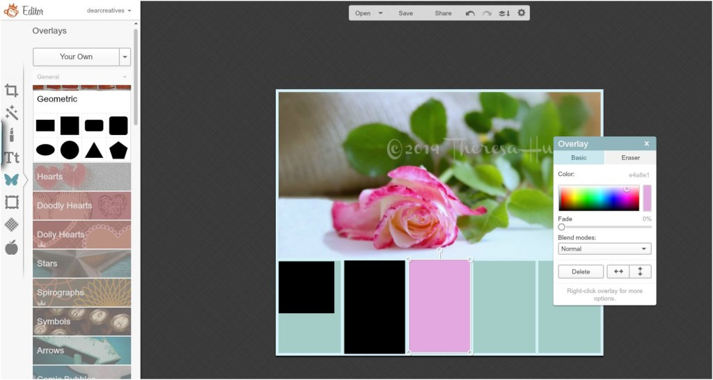 Changing colors of cells with color tool