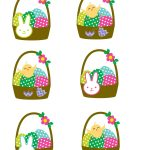 Easter Cupcake Toppers Free Printables with chicks and bunnies