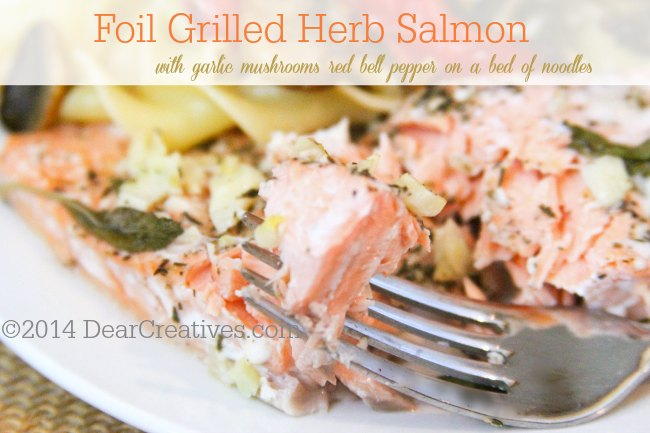 Foil Grilled Herb Salmon_
