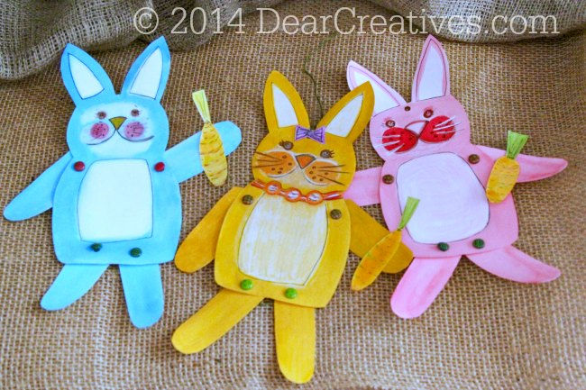 Hand Painted Bunnies with Carrots_paper-crafts_