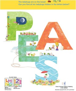 One Two Three Peas Book Activity