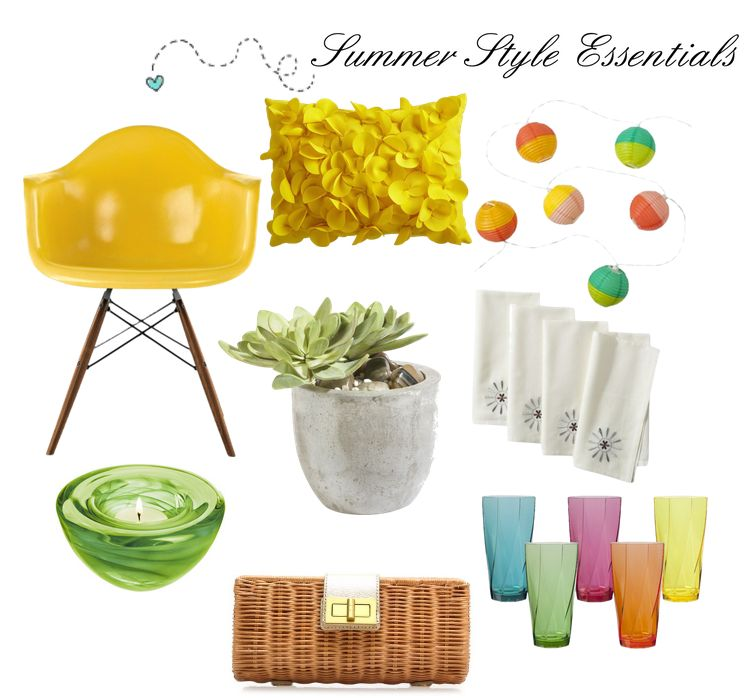 Easy DIY Decorating: Select Summer Essentials! Style and Color Trends