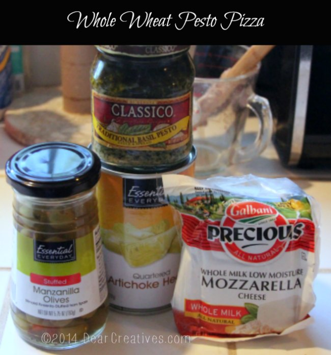 groceries for pesto pizza