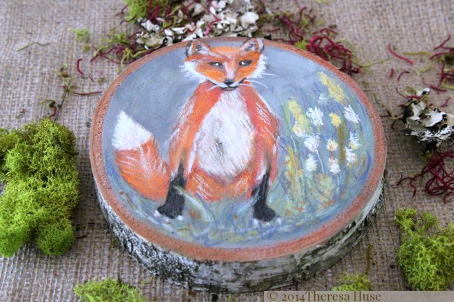 Woodland Painting On Wood Rounds