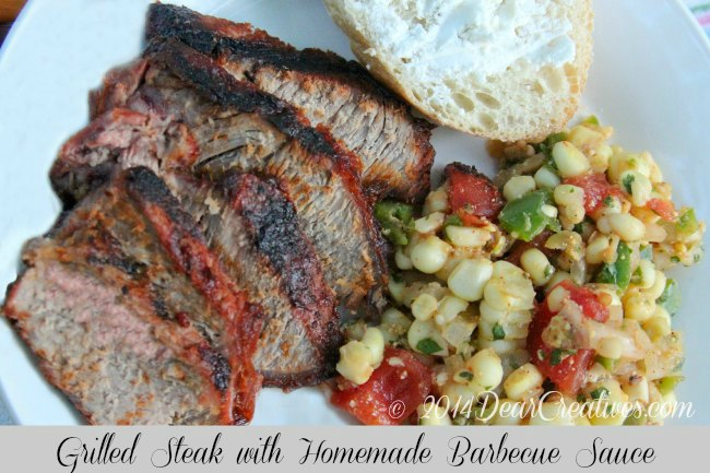 Grilled Steak with Homemade barbecue Sauce
