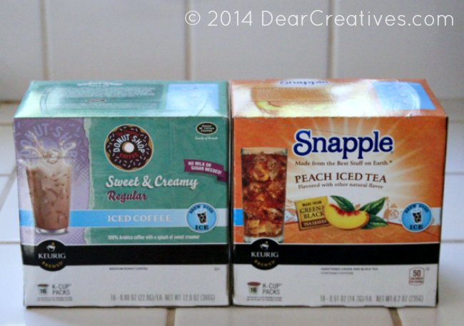 Keurig K-Cups Snapple Peach Tea and Donut shop Sweet and Creamy Regular Iced Coffee #shop_
