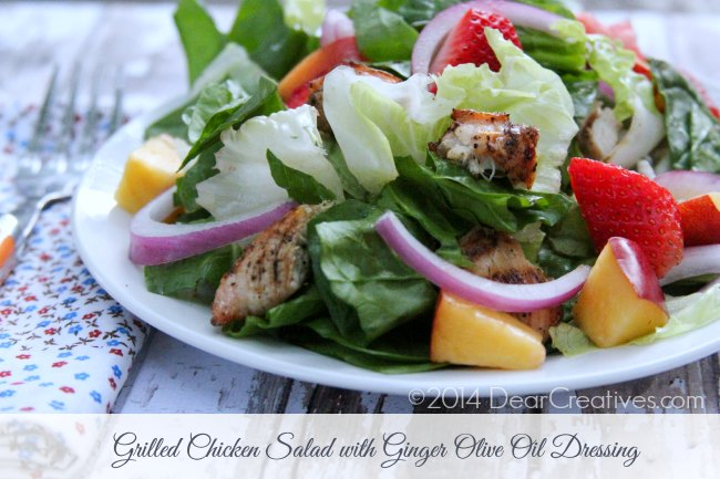 Grilled Chicken Salad on a plate