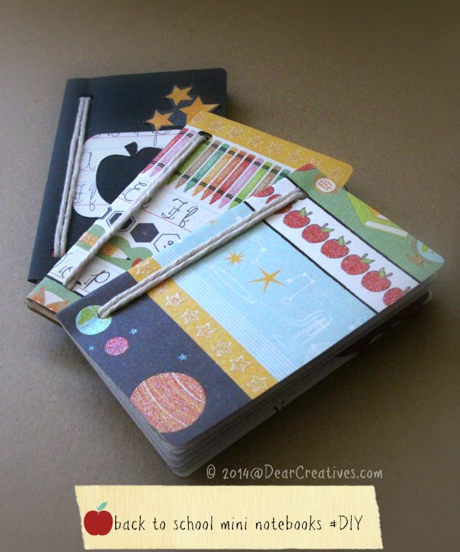 Little Mini Notebooks Perfect for Remembering Back to School Firsts! Mini Notebook #backtoschool #DIY