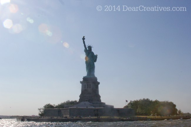Boat view of the Statue of Liberty