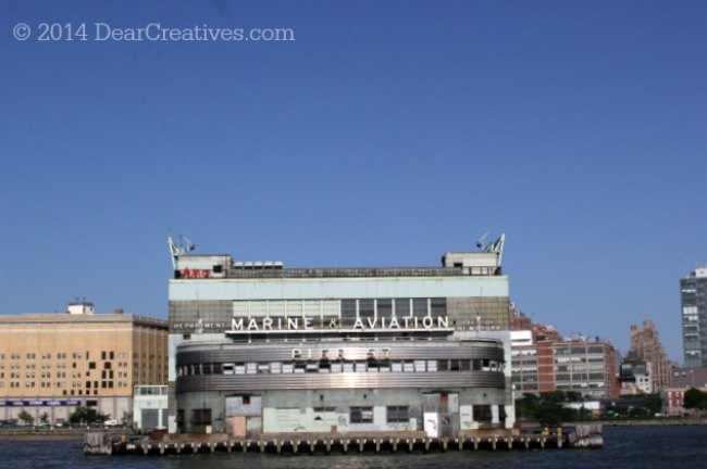 Marine and Aviation Building on the Hudson River New York_