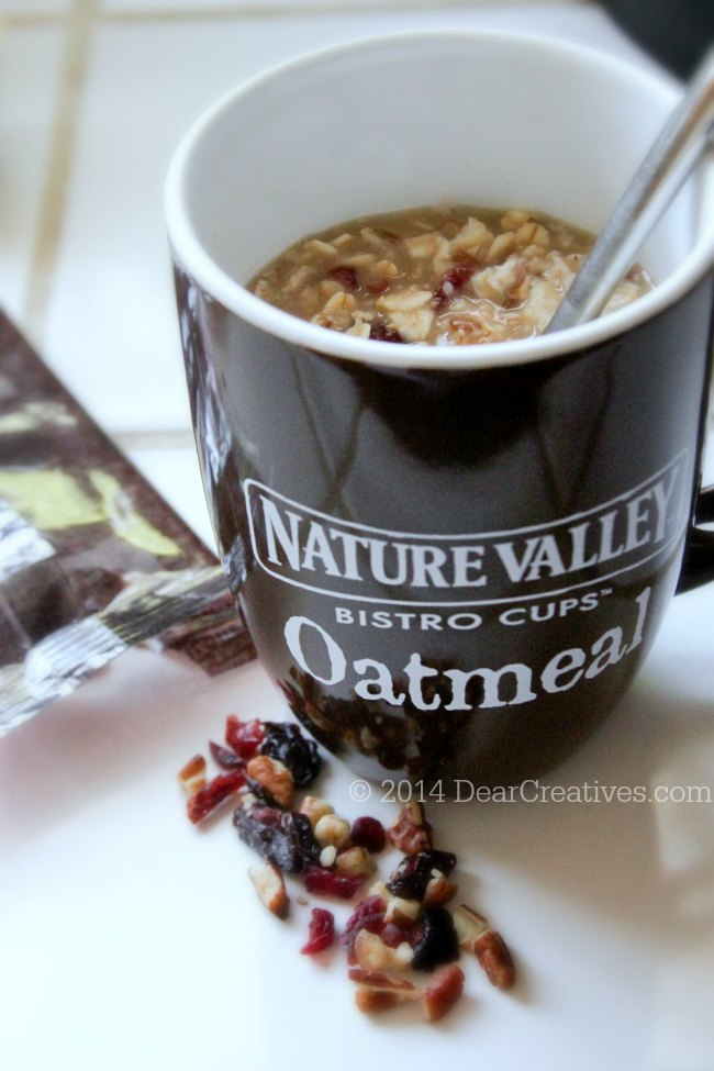 Nature Valley Brown Sugar Pecan Oatmeal in a cup_