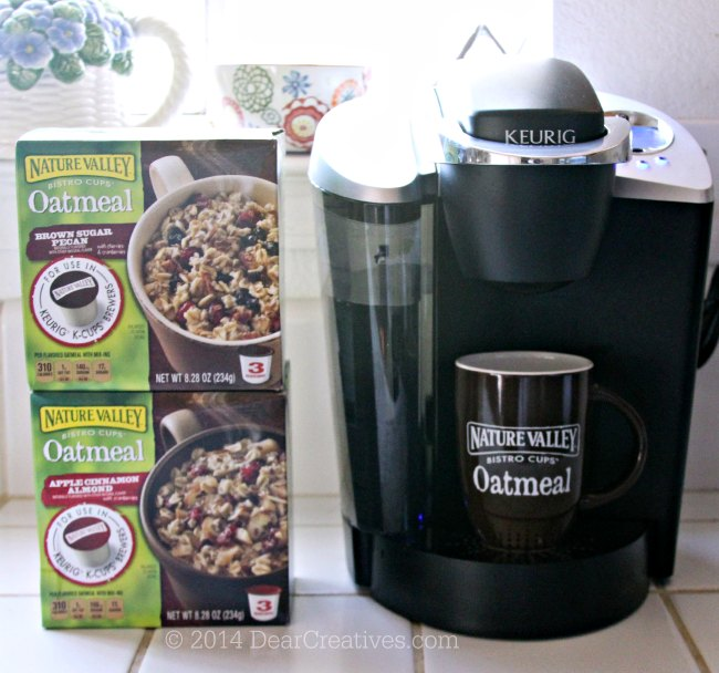 Nature Valley Oatmeal Bistro Cups with a Keurig Coffee Maker