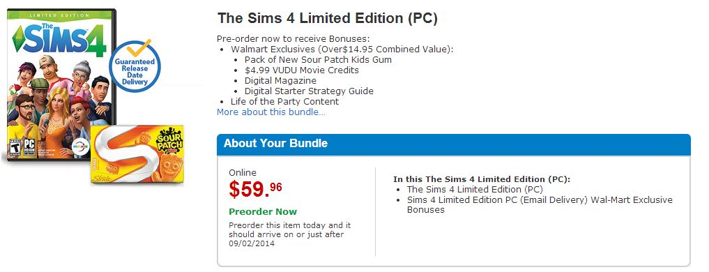 The Sims 4 Deal at Walmart