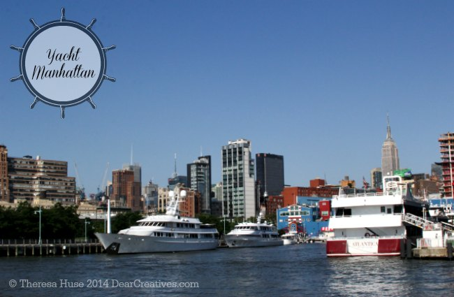 Yachts in Chelsea Pier New York_
