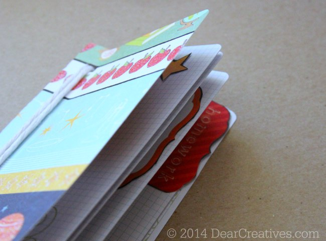 back to school crafts - close up of mini notebook