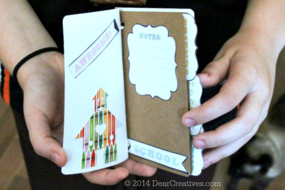 back to school crafts - handmade notebook_papercrafts_