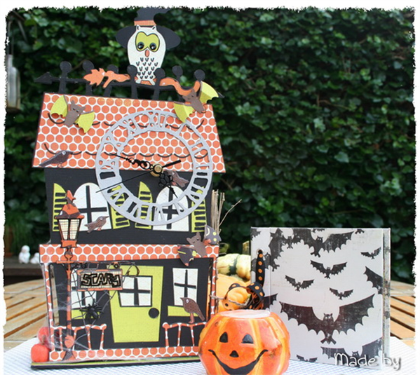 Cricut Halloween Crafts Haunted House Craft