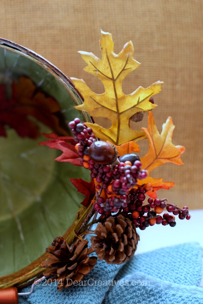 Decorated apple basket_ fall crafts_