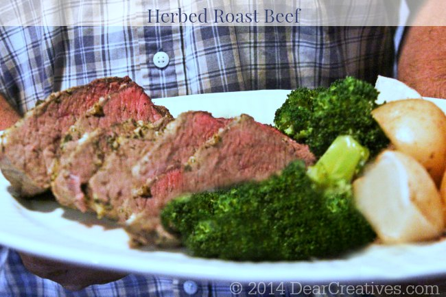 Meal Plan Monday: Easy Herb Roast Beef #Recipe