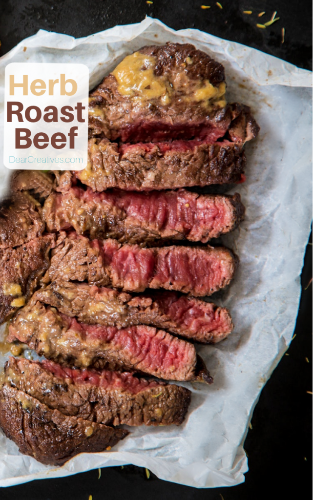 Looking for an easy roast beef recipe_ Prep is so quick in 15 minutes, roasts in the oven done in about 2 hours... DearCreatives.com