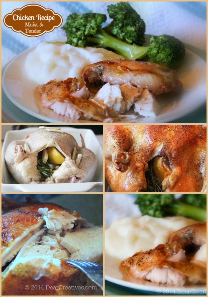 Oven Roasted Chicken_Baked Chicken Step By Step Images_DearCreatives.com