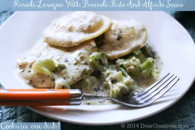 Ravioli Lasagna With Broccoli Pesto
