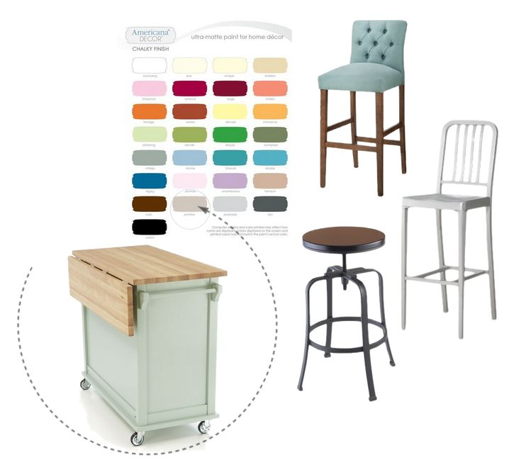 The Planning: Dresser to Kitchen Island Re-Purpose #DIY Idea And The Bar Stools