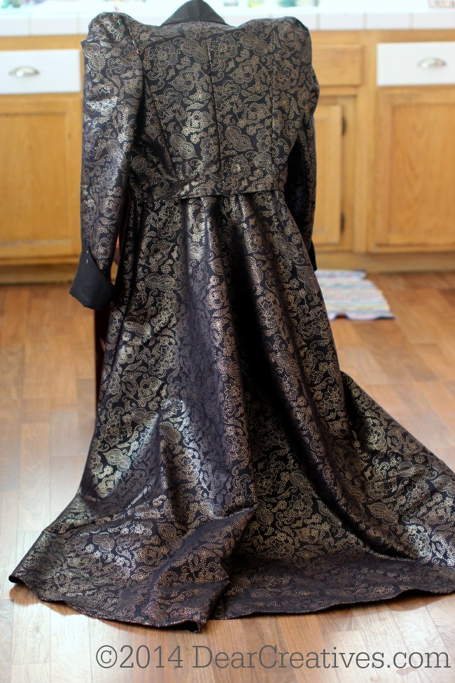 Sewing Pattern Evil Queen Costume and tips for sewing your own. View Back of entire Evil Queen costume_