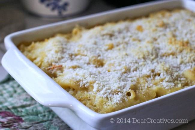 This is the best macaroni and cheese. You can make it ahead of time to feed a crowd.