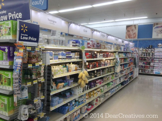 Walmart Beauty Isle_Neutrogena Makeup Wipes and other beauty products