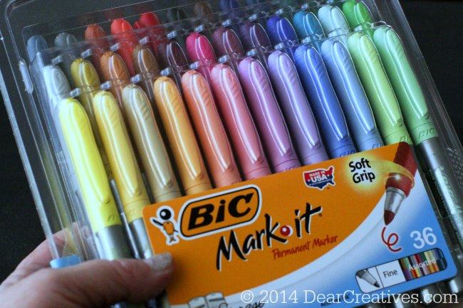 Bic Mark It Permanent Markers_ 36 pack of colors_Bic Pens_