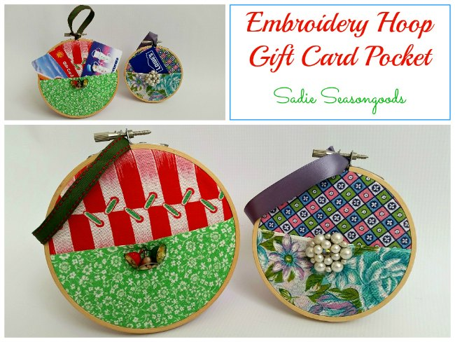 Embrodery Hoop Gift Card Holder