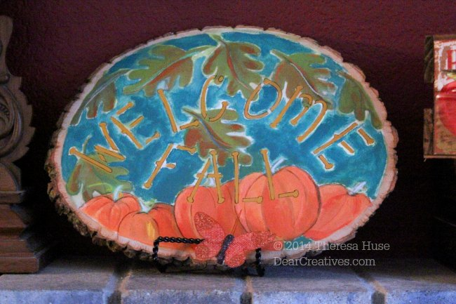 Fall Crafts_ Painted Pumpkins_Falling Leaves_ Welcome fall_