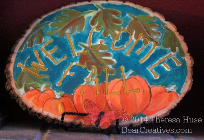 Home Decor DIY Project: Fall Acrylic Painted Wood Slices