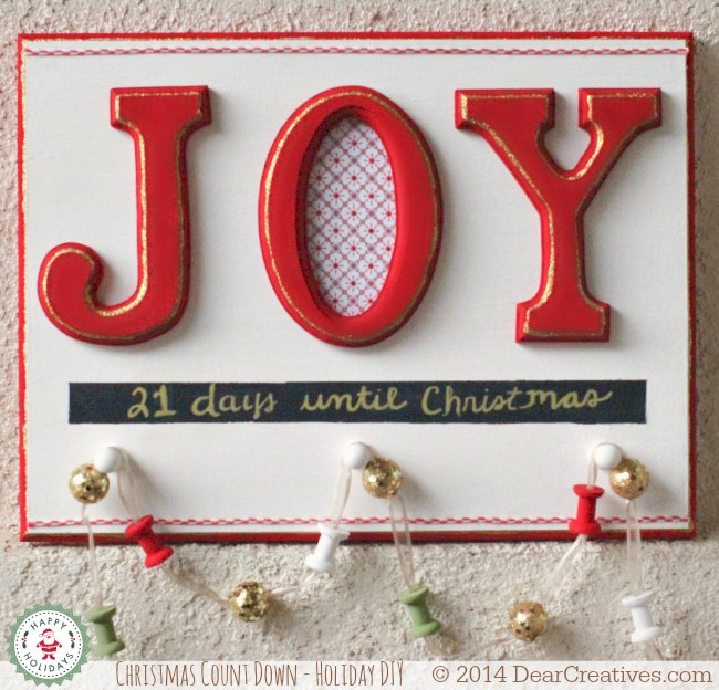 Holiday Count Down To Christmas Sign_© 2014 DearCreatives.com