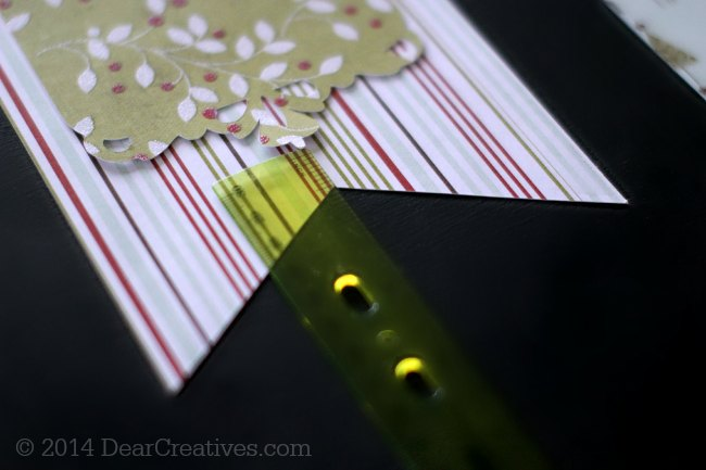 Ruler measuring where to mark placement for noel background on paper-craft_©2014 DearCreatives.com