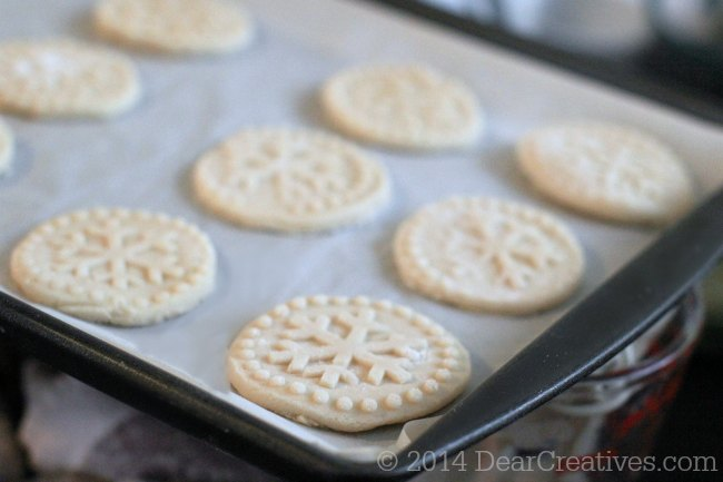 Shortbread Cookies ready to be baked on a cookie sheet_© 2014 Theresa Huse DearCreatives.com