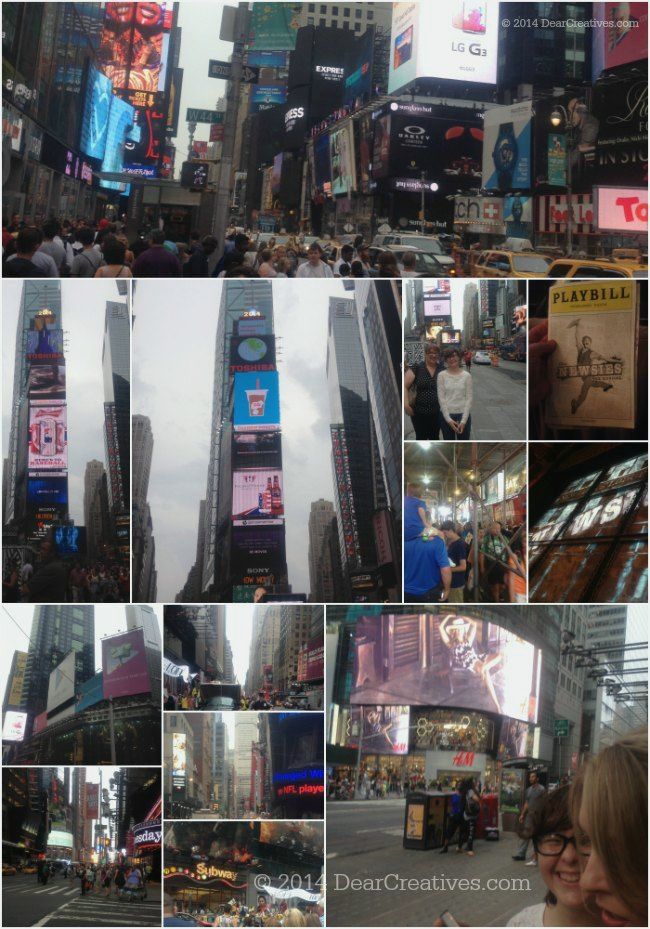 Times Square and going to Newsies show in NYC_© 2014 DearCreatives.com