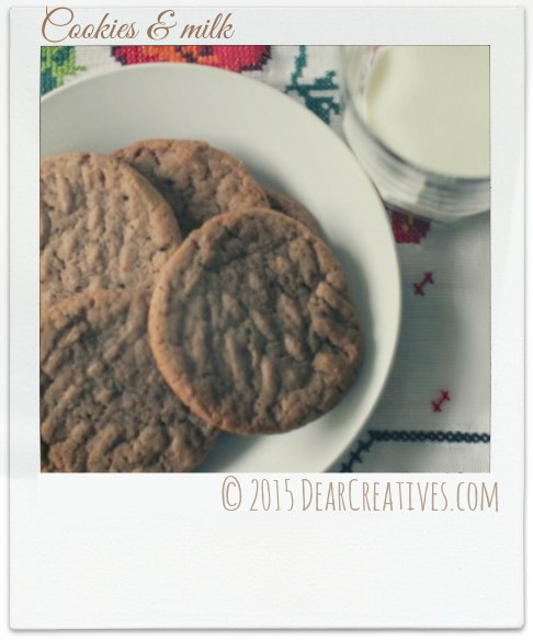 Cookies and milk snap shot photo