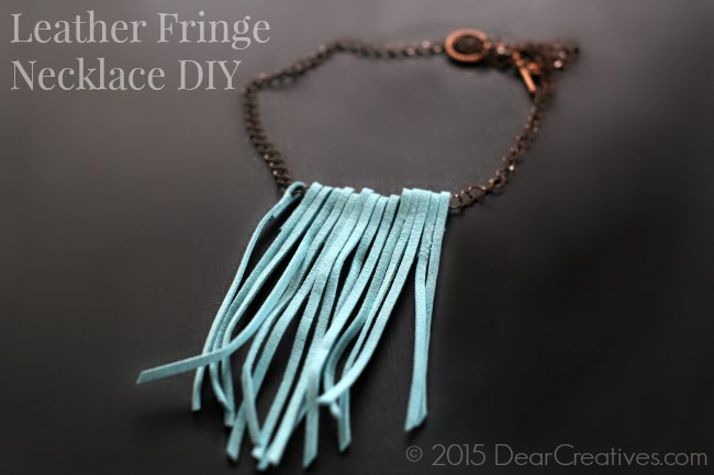 Easy DIY Projects | Jewelry Project | Leather Fringe Necklace DIY_Craft- Jewelry