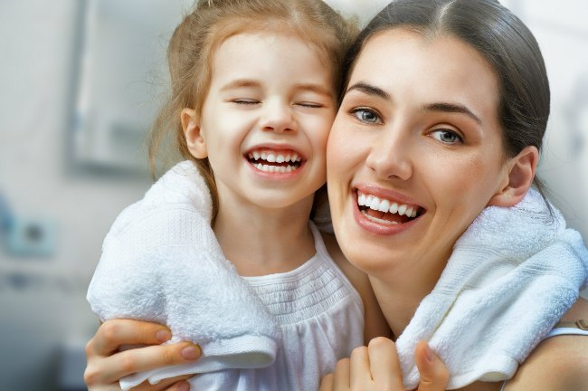 At home spa day |mom and daughter with towel| beauty tips