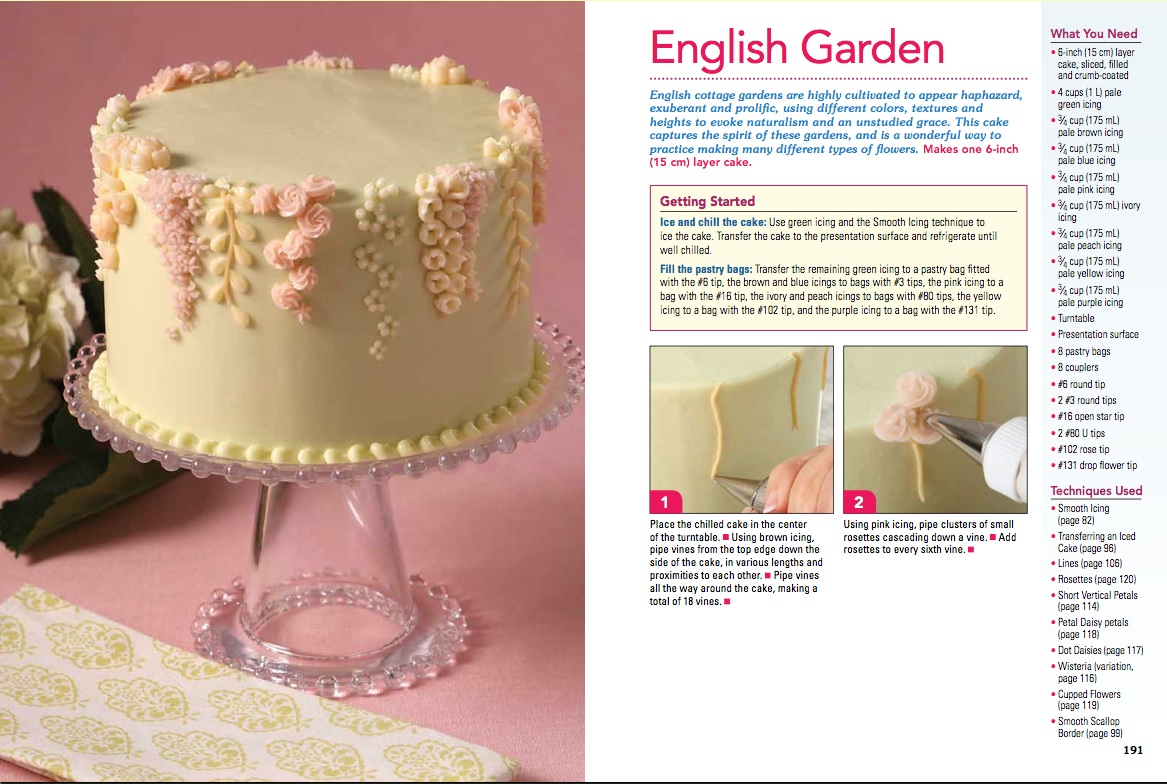 Cookbook: Excerpt Garden Buttercream Cake