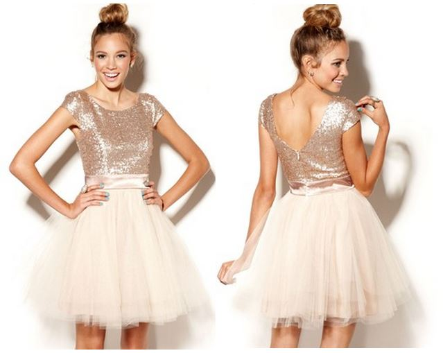 Fashions -Trixxi Sequin Tulle Dress