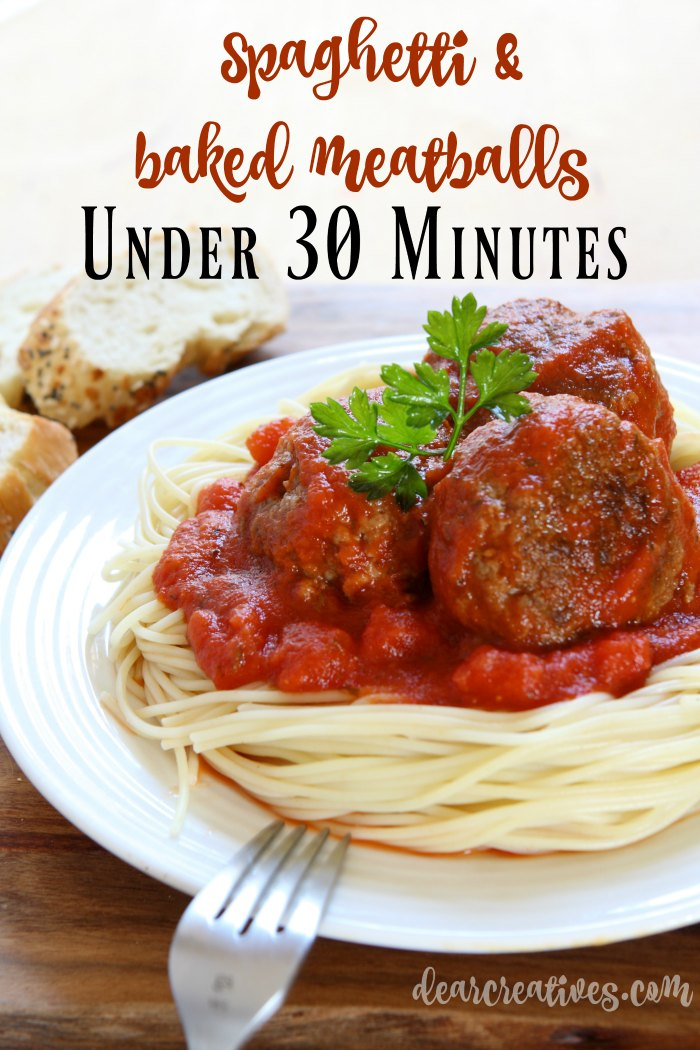 Spaghetti With Baked Meatballs Under 30 Minutes! + Kitchen Tips