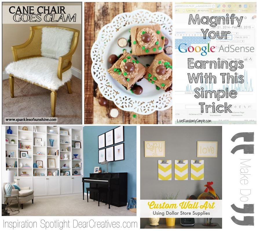 blogging party linkup: Inspiration Spotlight features party 133