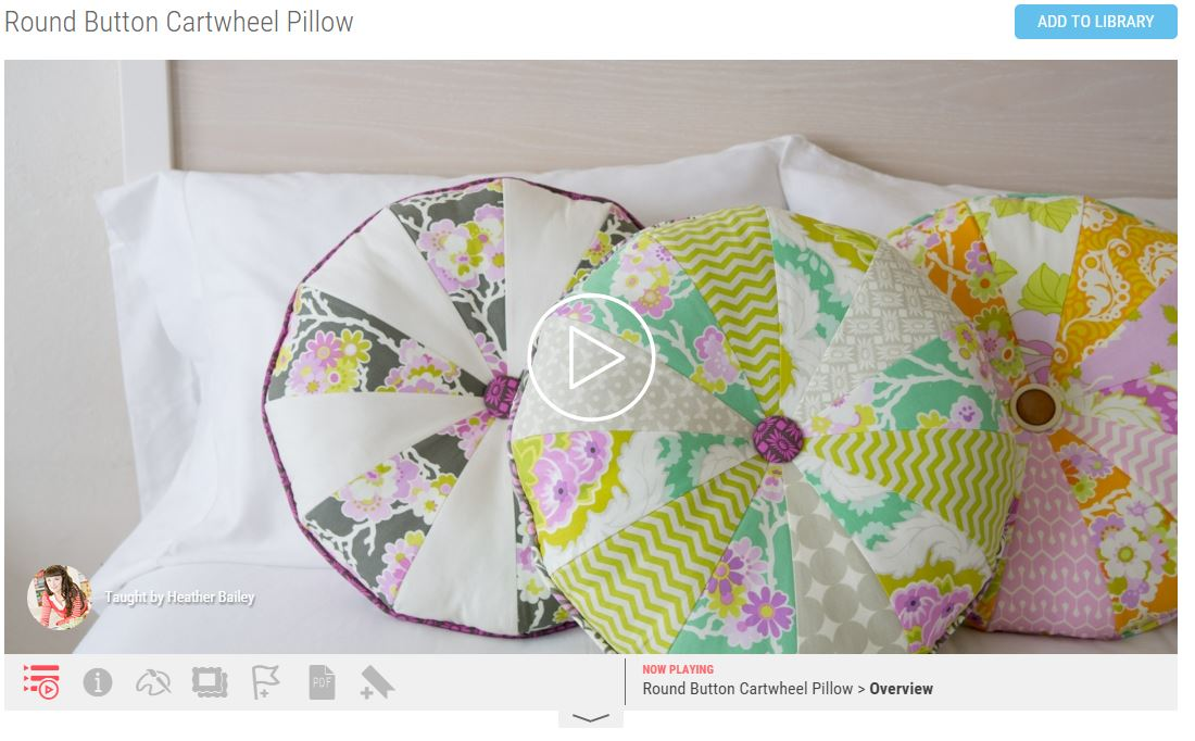 Mother's Day Gift Ideas | e Classes | Cartwheel pillow sewing e class