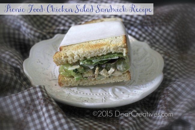 Picnic Recipe Food |Chicken Salad Sandwich Recipe on a plate