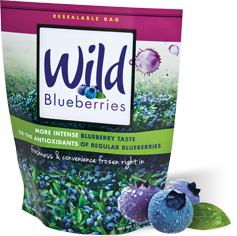 wild blueberries in the package