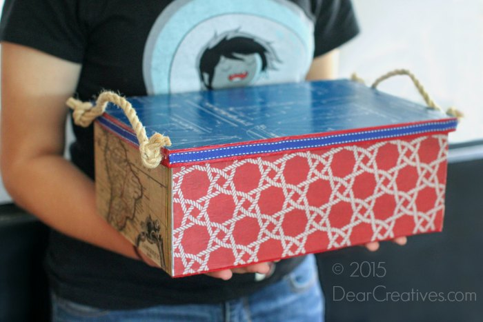 How To Decorate A Box For Dad! DIY Father's Day Gift