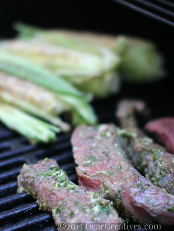 Grilled Recipe | Grilled Steak and Corn On the Grill Cooking